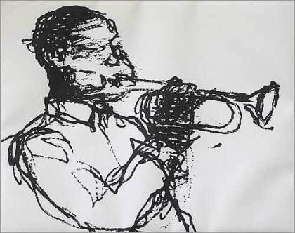 Devin Lomon-Humes - musician drawing