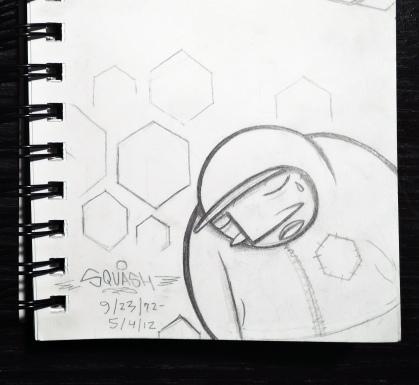 AloneOne - Squash RIP sketchbook